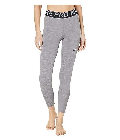 Nike Pro 7/8 Crop Tights (Gunsmoke/Heather/Gunsmoke/Black) Women