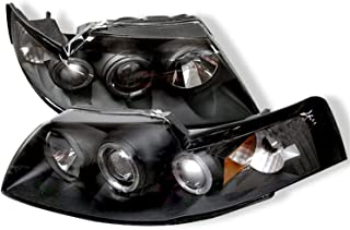Spyder Auto Ford Mustang Black Halogen Projector Headlight
