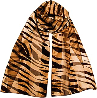 Animal Print Long Silky Satin Chiffon Neck Scarves, Several Styles