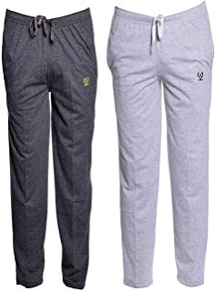 VIMAL JONNEY Men's Cotton and Crush Trackpants (Multicolour, XXL) - Pack of 2