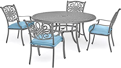 Hanover TRADDNG5PC-BLU Traditions (5 Piece) Dining Set, Blue