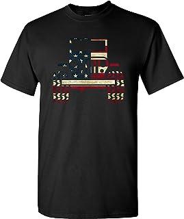 American Flag 4X4 on a Black T Shirt