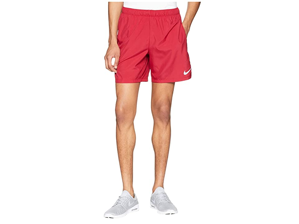 Nike Challenger 7 Dri-Fit Running Short (Red Crush/Red Crush/Burgundy Crush) Men