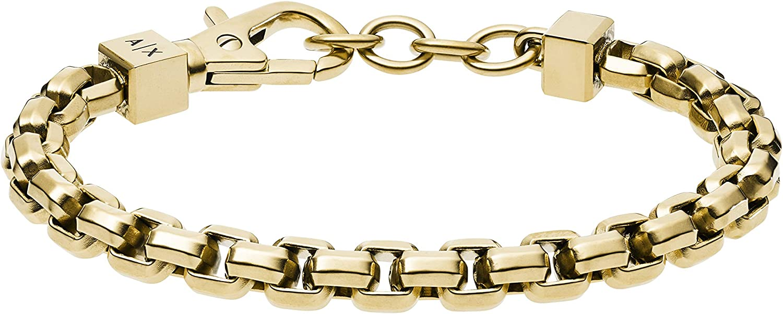 Armani Exchange Stainless Alternative dealer online shopping Bracelet Steel Chain