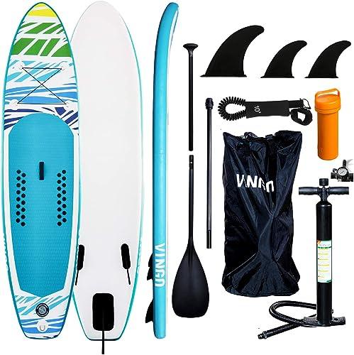 Tavola surf gonfiabile per principianti, con pompa, paddle regolabile -  3 accessori inclusi B07RLMTMFQ