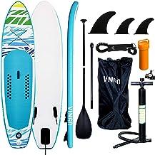 VINGO SUP Aufblasbares Stand up Paddle Board Set Ideal für Einsteiger, mit Pumpe, 3-TLG..