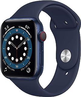 AppleWatch Series6 (GPS+Cellular) • 44mm aluminiumboett blå • sportband djupblå marin – standard