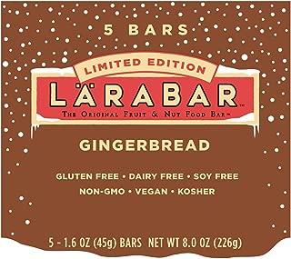 LARABAR Fruit & Nut Food Bar, Gingerbread Limited Edition, Gluten Free, 1.6 O...
