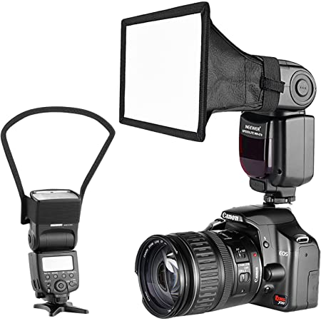 Neewer Cámara Kit de Speedlite Flash Softbox Caja de Luz y Reflector Difusor para Canon Nikon y Otras Cámaras DSLR Flashes, Neewer TT560 TT850 TT860 NW561 NW670 VK750II Flashes