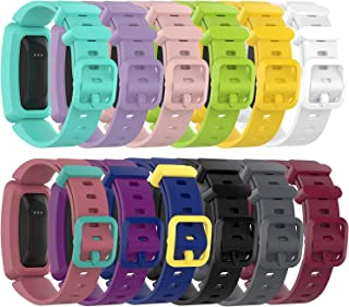 RuenTech Compatible with Fitbit Ace 2 Kid's Band Silicone Water Resistant Fitness Watch Strap for Ace 2 Bands for Kids (12-Pack)