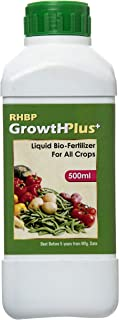 RHBP - Growth Plus Liquid Bio-Fertilizer for All Crops 500 ml, Perfect to Use On Indoor/Outdoor Plants - Organic Certified by KSOCA