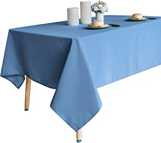 Obstal 210GSM Rectangle Table Cloth, Water Resistance Microfiber Tablecloth, Decorative Fabric Table Cover for Outdoor and Indoor Use (Sky Blue, 60 x 84 Inch)