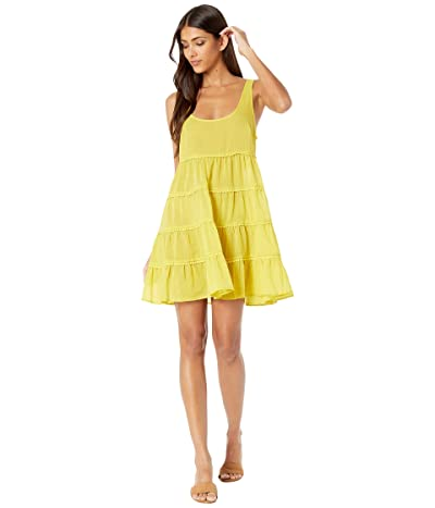 Kate Spade New York Solids Tiered Cover-Up Dress (Lemon Cake) Women