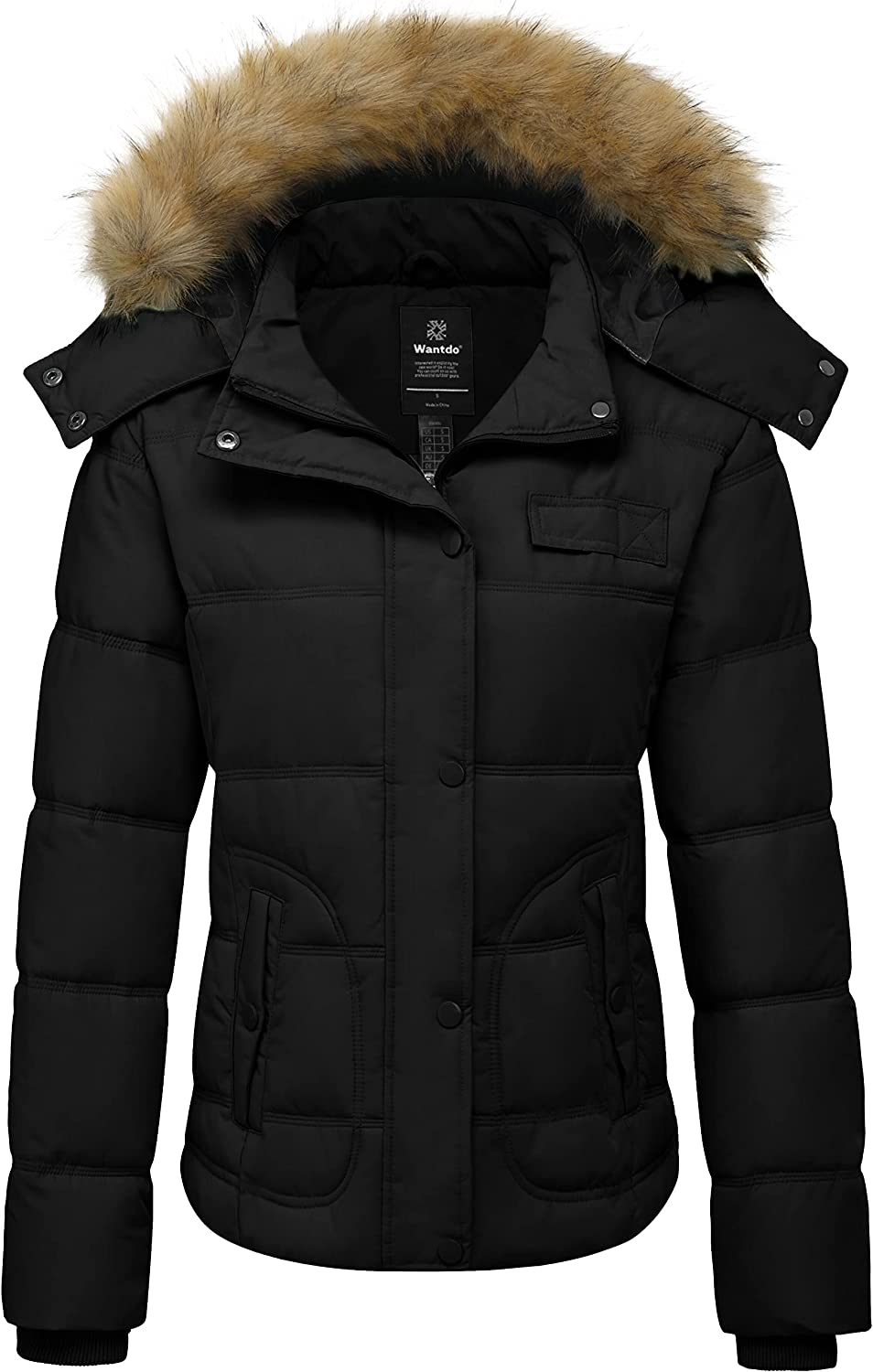 Wantdo Women's Hooded Winter Coat Thicken Quilted Puffer Jacket Warm Parka