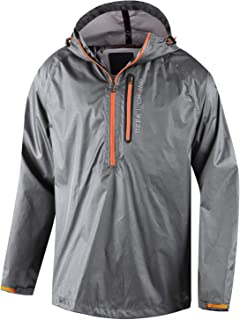 Mens Waterproof Rain Jacket Active Outdoor Full Zip Lightweight Trench Coats