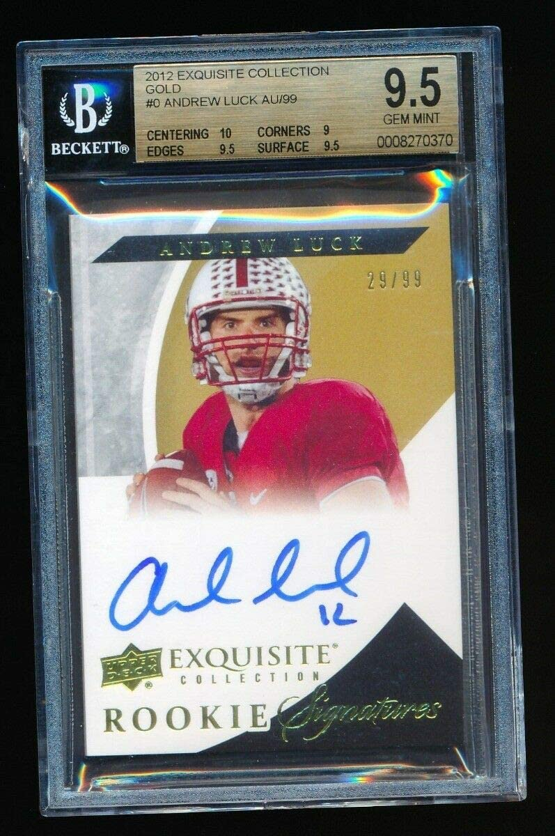 latest BGS 9.5 ANDREW LUCK 2012 EXQUISITE COLLECTION GOLD RC AUTO 99 Online limited product I