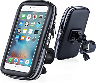 RISEPRO Bike Phone Mount, Waterproof Universal Case Bicycle & Motorcycle Phone Holder Mount Cradle Handlebar Rain Resistant for Smart Phone 5.7' iPhone X, 6, 6S, 7, 7 Plus, 8, 8 Plus