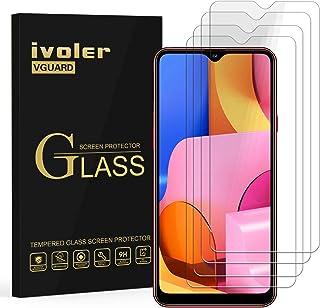 ivoler 4-pack skärmskydd för Samsung Galaxy A20s, härdat glasfilm för Samsung Galaxy A20s [9H hårdhet] [Anti-rep] [bubbelf...