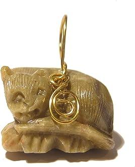 Citrine Pendant 4.4 Boutique Sleek Bowtie Cat Brass Feline Yellow Citrine Gemstone 03z