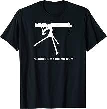 Vickers Machine Gun Tshirt Gift WW1 First World War Tee