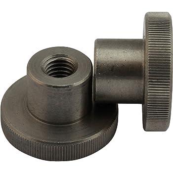 10x St/ück M8 R/ändelmutter Kunststoff mit Stahlgewinde verzinkt wei/ß