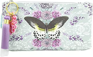 Papaya Art Rare Species Butterfly and Flower Art Oil Cloth Small Make-up or Accessory Travel Bag