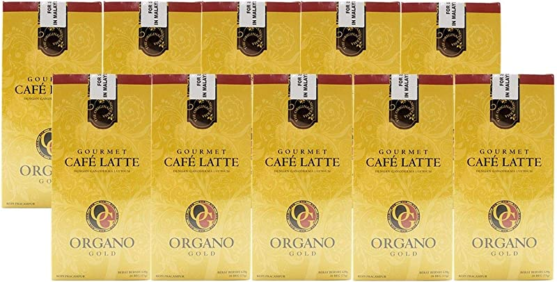 10 Boxes Of Organo Gold Ganoderma Gourmet Caf Latte Coffee 20 Sachets Per Box
