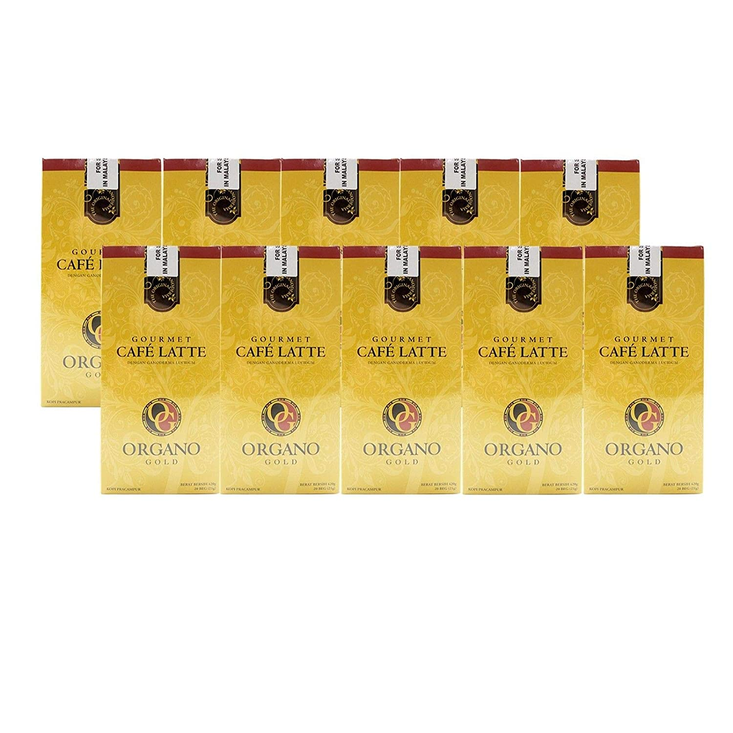10 Box of Organo Gold Gourmet Portland Mall Latte Max 48% OFF 100% Ganode Certified Coffee