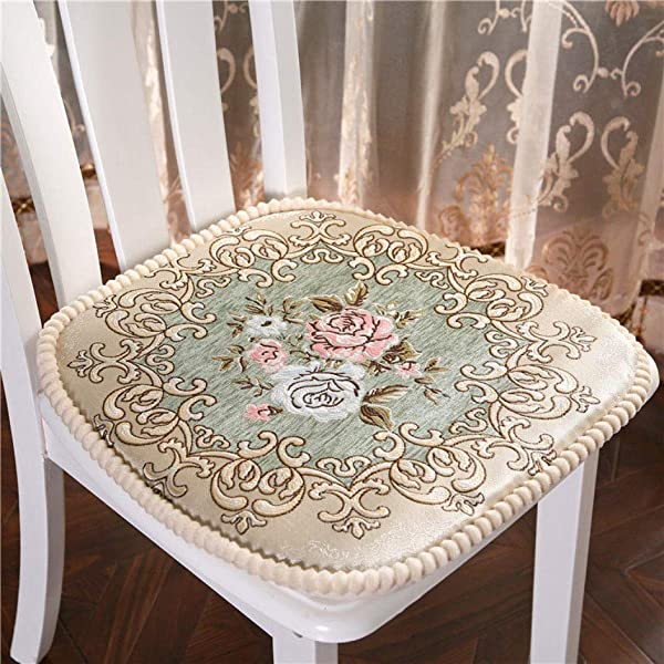Embroidered Chair Cushion Soft Comfortable Seat Cushion Thickened Kitchen Dinning Home Decor Chair Pads