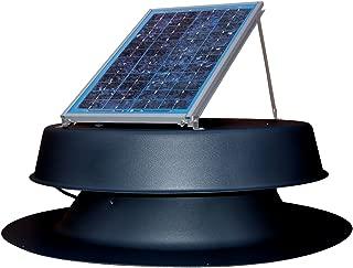 Natural Light Solar Attic Fan Vent Roof Mount, 12 Watt Black