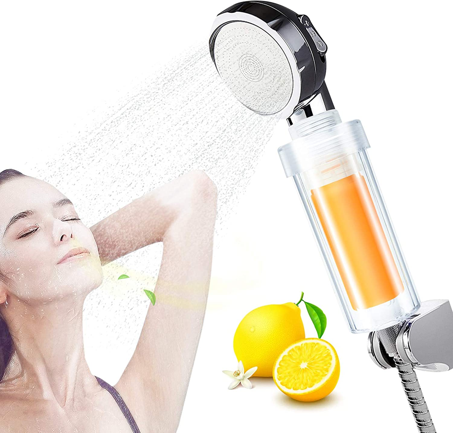 Vitamin C Filter Shower Head, Filtered Shower Head for Hard Water and Chlorine,Vitamin Water Softener,Universal Shower System,Helps Dry Skin & Dry Hair,Gift idea For Her/Him,Wife,Girlfriend