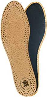KAPS PECARI Carbon Shoe Insoles, Vegetable Tanned Sheepskin Leather with Activated Carbon Charcoal, Elegant and Comfortable