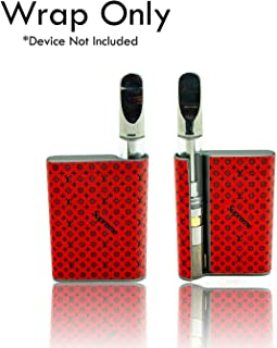 Custom Skin Decal for CCell Palm (Decal Only, Device is Not Included) - Vinyl Wrap Protective Sticker by VCG Customs (Red Black Supreme)