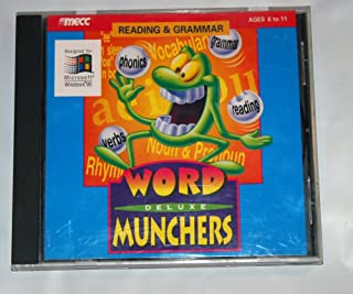 Windows 95 Reading & Grammar Word Munchers Deluxe