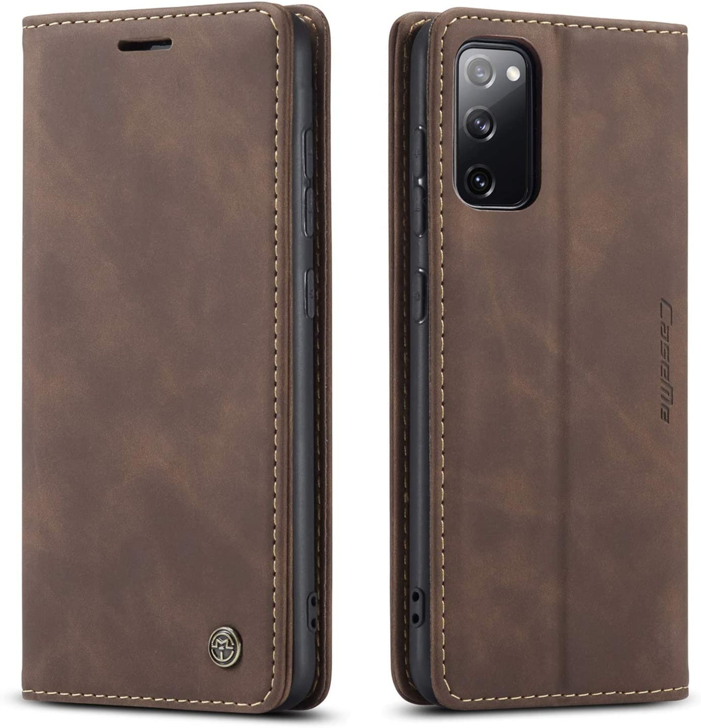 Samsung Galaxy S20 FE 5G Wallet Case Cover, Magnetic Stand Flip Protective Leather Case Purse Style with ID & Credit Card Holder Case for Samsung Galaxy S20 FE 5G 6.5 inch (Coffee)