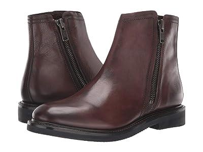 Frye Gordon Outside Zip (Dark Brown Dip-Dye Leather) Men