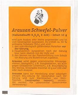 ARAUNER - Metabisulfito de Potasio 10g - Arausano - Desinfectante de Tapones y Equipos de fermentación