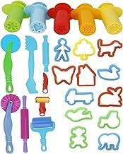 ULTNICE Jouez à Doh Kits 20pcs Smart Dough Tools avec 5pcs Extruder Tools (Random Color)