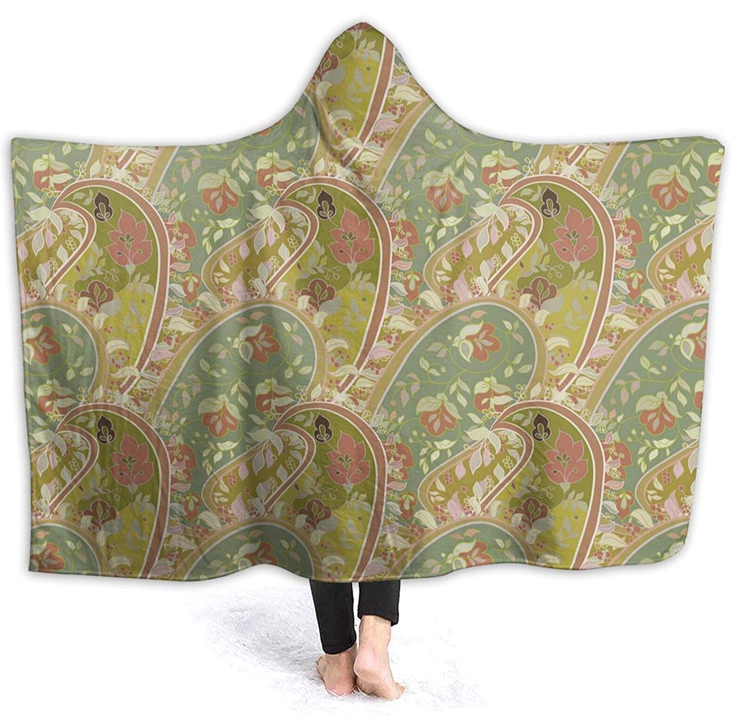NYIVBE Colourful Outlet SALE Flowers Hooded Blanket Fle Warm Cozy Soft Super Courier shipping free
