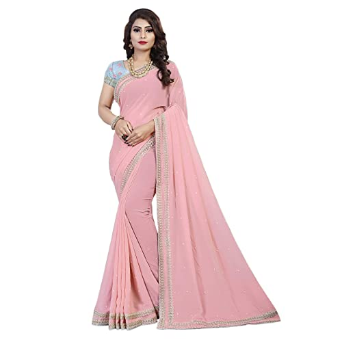 bcf2fa0eb6f484 baby Pink Saree  Buy baby Pink Saree Online at Best Prices in India ...