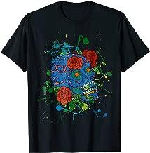 Dia De Los Muertos Sugarskull on Splashes T-Shirt