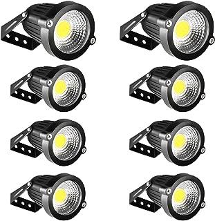 LED Landscape Lights INNERWILL Landscape Lighting 5W 12V-24V Outdoor Flood Security Lights Daylight Spotlights Waterproof Pathway Lights Low Voltage Lighting for Wall, Yard, Garage, Garden (8 Pack)