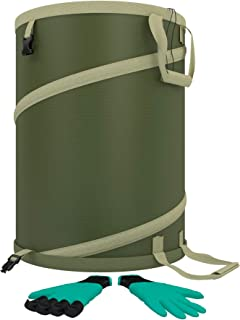 Ezisoul Garden Bag - Large Heavy Duty Canvas Reusable Yard Bags Great The Trash Waste Laundry Compost Refuse Tool Utility ...