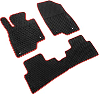 iallauto Compatible for Mazda 3 Axela 2016 2017 2018 Heavy Duty Rubber Front & Rear Floor Mats Liners Vehicle All Weather Guard Black Carpet
