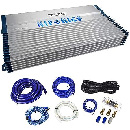 Amazon Com Hifonics Bxx2000 1d Brutus Class D 2000w Rms Mono Car Subwoofer Amplifier W Amp Kit