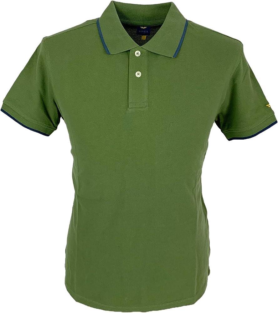Armata di mare polo, maglietta a manica corta , 100 % cotone, verde 5352994D