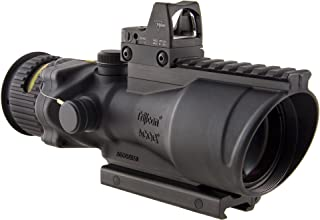Trijicon 6x48mm ACOG Dual Illumination Amber Chevron .308 Ret Rail 6.5 MOA RMR 2 Sight TA75 Mount Optics