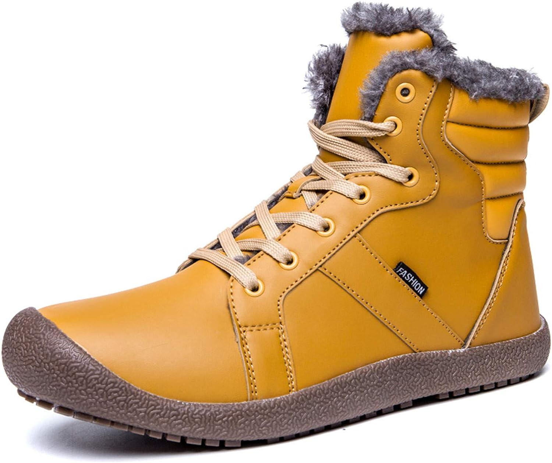 JIASUQI Outdoor Winter Waterproof Ankle Warm Fur Snow Boots for Women Men