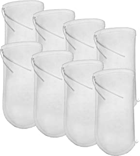 Aquatic Experts 4 Inch Drawstring Filter Socks 200 Micron - 4 Inch Opening by 14 Inch Long - Long Felt Filter Bags - Custo...