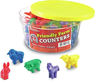 Learning Resources Friendly Farm Animal Counters, 72 pieces